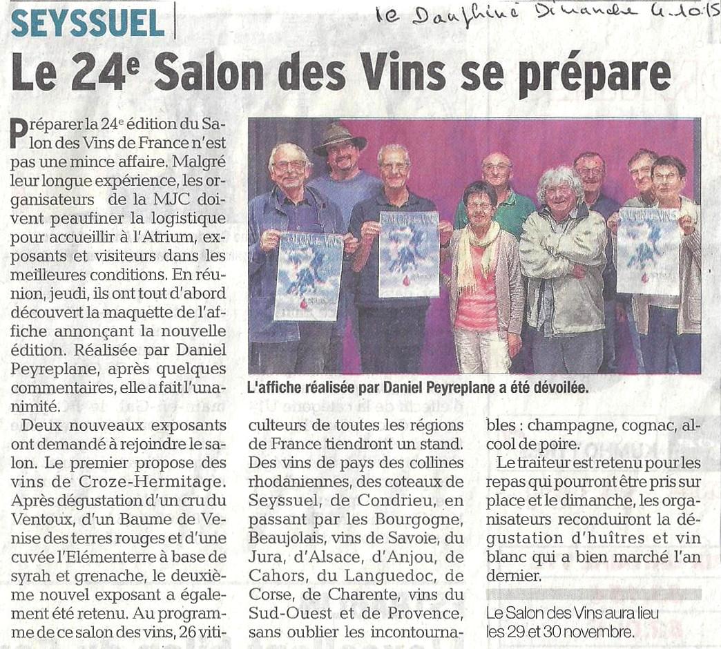 Salon des vins de france revue de presse for Salon des vins de france